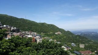 Jiufen's mountainous view.